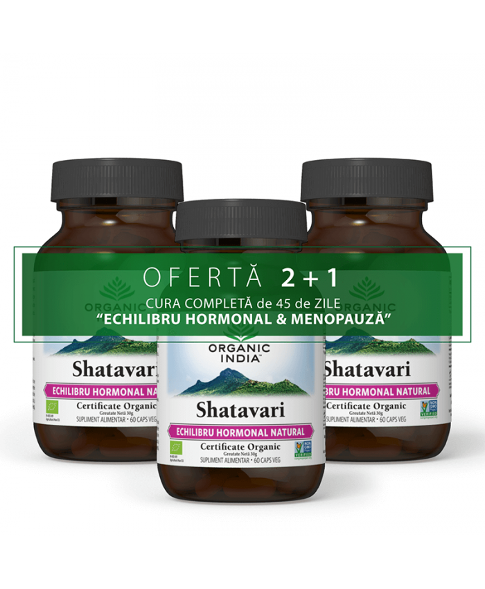 OFERTA 2+1 Shatavari 60 caps veg | Echilibru Hormonal Natural, Menopauza, Lactatie, Fertilitate*
