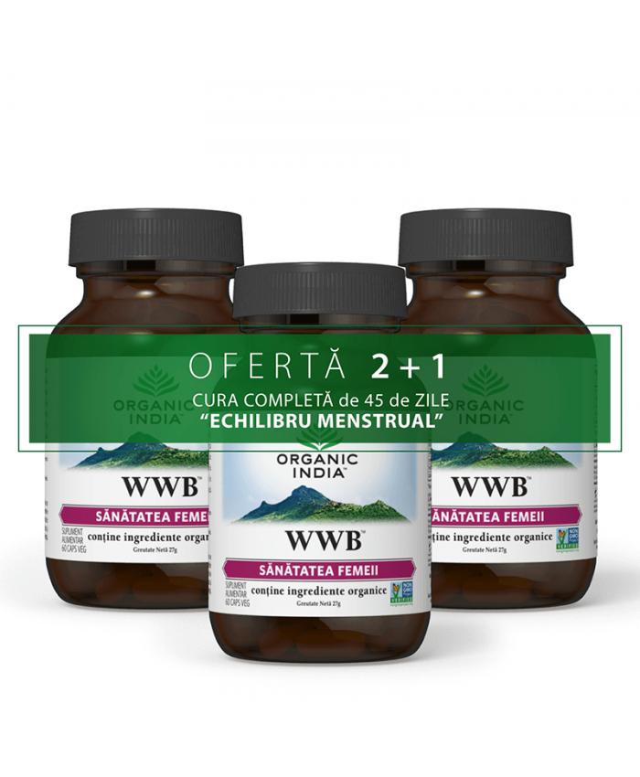 OFERTA 2+1 WWB 60 caps veg | Sanatatea Femeii, Sindrom Premenstrual
