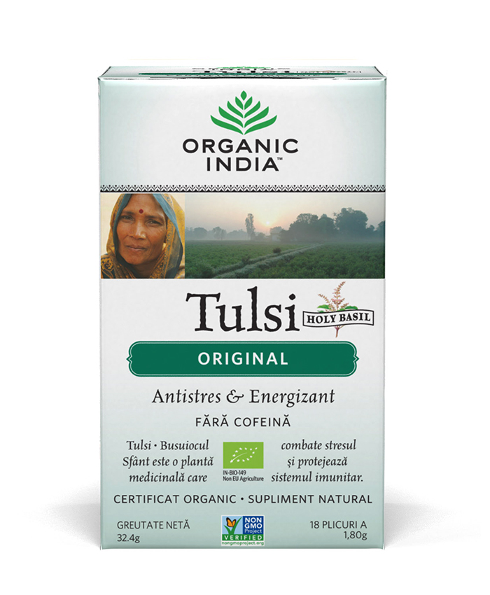 Ceai Tulsi (Busuioc Sfant) Original | Antistres Natural & Energizant, plicuri*