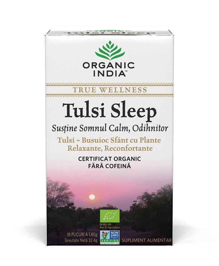 Ceai Tulsi Sleep cu Plante Relaxante, Reconfortante | Somn Calm, Odihnitor, plicuri*