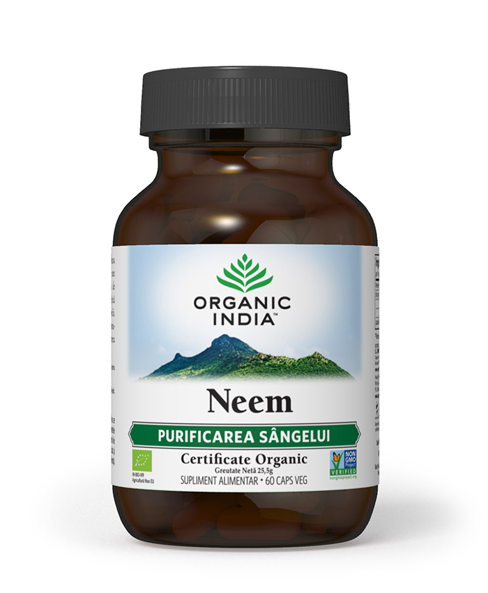 Neem | Antibiotic si Antifungic Natural, 60 capsule vegetale