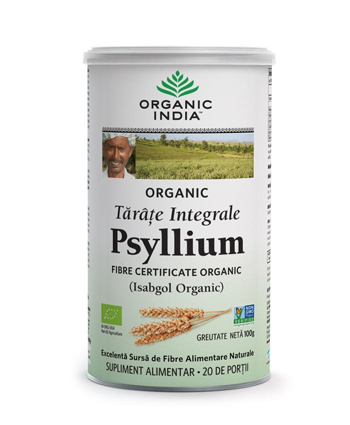Tarate Integrale de Psyllium, 100% Organic | > 85% Fibre, 100g*