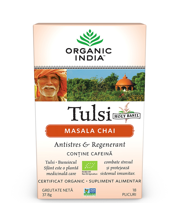 Tulsi (Busuioc Sfant) Masala Chai | Relaxant & Regenerant, plicuri