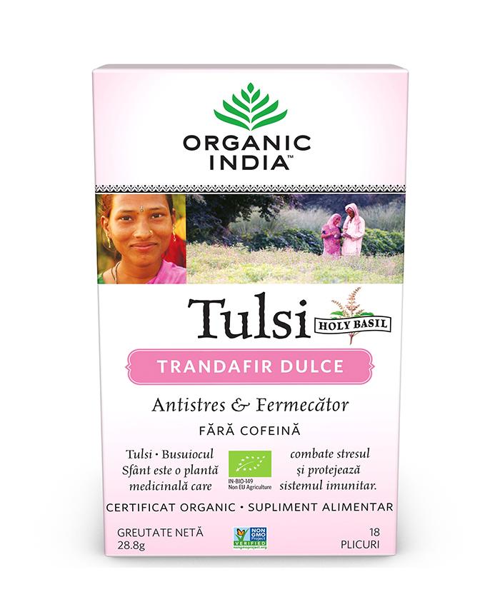 Ceai Tulsi (Busuioc Sfant) Trandafir Dulce | Antistres & Fermecator, plicuri*