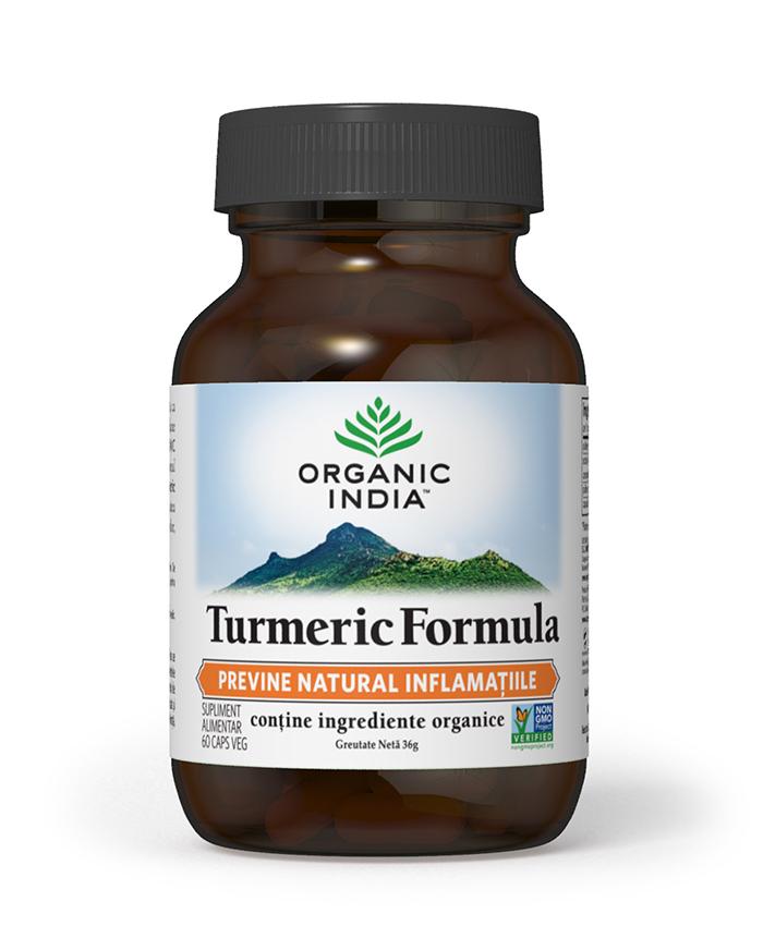 Turmeric Formula cu Ghimbir | Antiinflamator Natural, 60 capsule vegetale