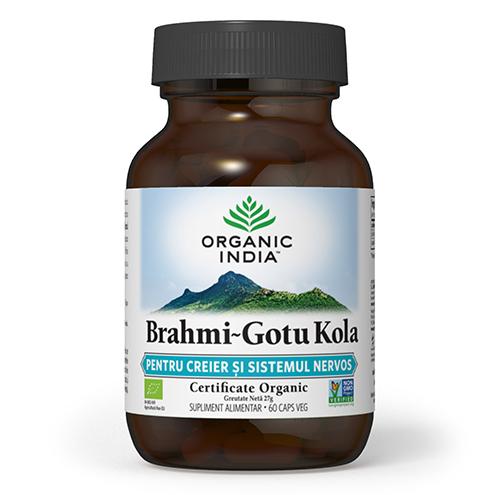 ORGANIC INDIA Brahmi~Gotu Kola, PENTRU CREIER & SISTEMUL NERVOS