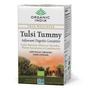 ORGANIC INDIA Ceai Tulsi (Busuioc Sfant) Tummy cu Ghimbir, Plante Savuroase si Condimente, Adjuvant Digestiv Linistitor