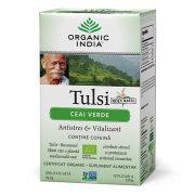 ORGANIC INDIA Ceai Verde Tulsi (Busuioc Sfant), Antistres & Vitalizant