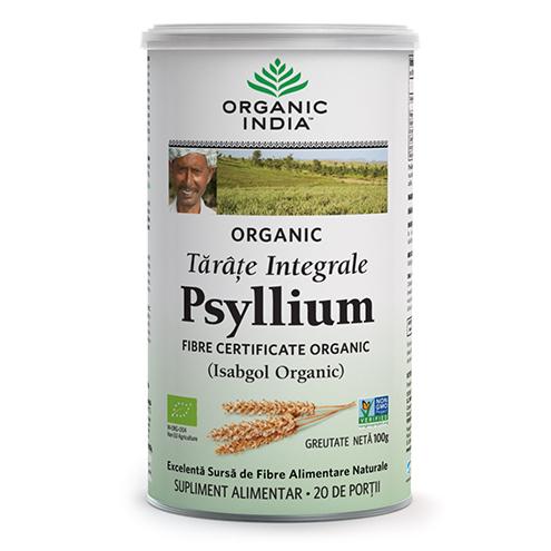ORGANIC INDIA Tarate Integrale de Psyllium 100% Organic