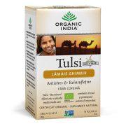 ORGANIC INDIA Tulsi (Busuioc Sfant) Lamaie Ghimbir, Antistres & Reinsufletire