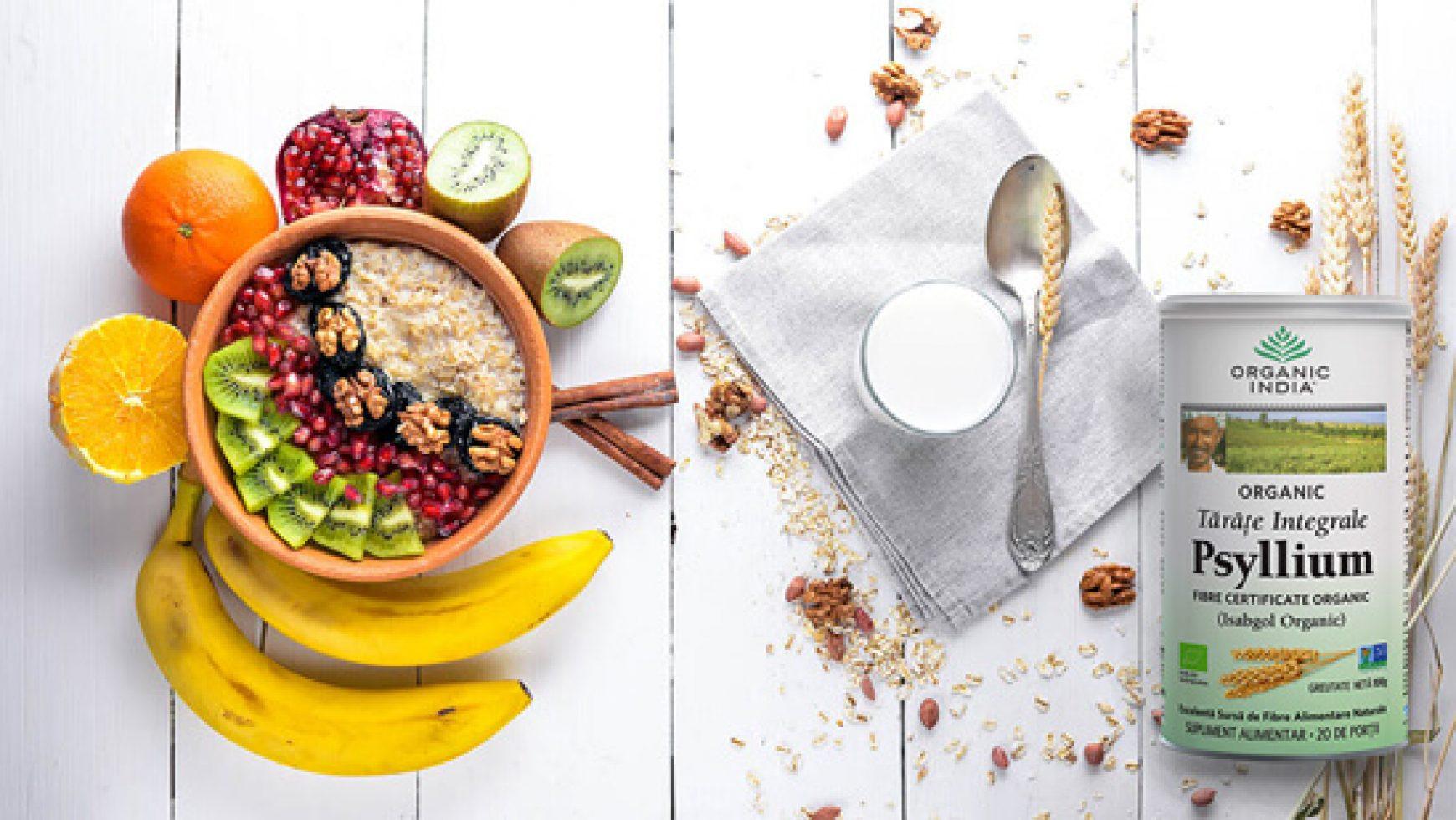 Cum sa faci un mic dejun sanatos cu tarate integrale de psyllium?