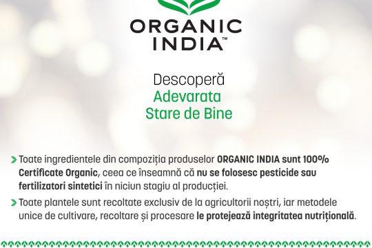 ORGANIC INDIA, NR. 1 in materie de calitate in Romania