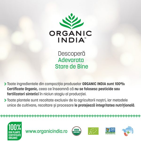 ORGANIC INDIA, NR. 1 in materie de calitate in Romania
