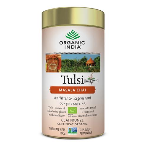 Tulsi (Busuioc Sfant) Masala Chai | Relaxant & Regenerant, cutie 100g
