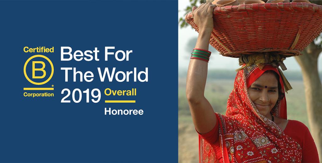 """ORGANIC INDIA primește distincția de """"Cel mai bun pentru lume"""" 2019"""